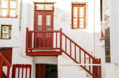 Architettura dell'isola di Mykonos, Grecia Fotografia Stock