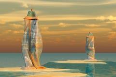 Architettura dell'oceano Fotografia Stock