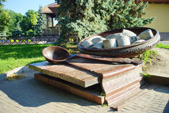 Architettura dell'Ucraina Città di Poltava fotografia stock