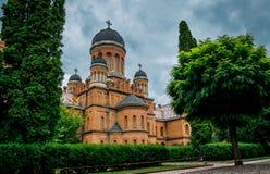 Architettura dell'università e della residenza nazionali del Metropolitan in Cernivci, Ucraina fotografia stock