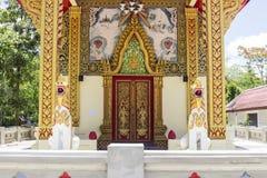 Architettura della chiesa della Tailandia fotografia stock