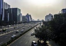 Architettura della città cyber/Cyberhub in Gurgaon, Nuova Delhi, India fotografia stock