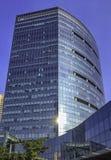 Architettura della città cyber/Cyberhub in Gurgaon, Nuova Delhi, India fotografia stock libera da diritti