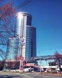 Architettura della città di Ä?eljabinsk per ospitare organizzazione di cooperazione di Shanghai fotografia stock