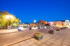 Architettura della città di Bydgoszcz in Polonia fotografia stock libera da diritti