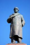 Architettura della città di Rybinsk, Russia Monumento a Vladimir Lenin Immagine Stock