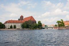 Architettura della città della Polonia Wroclaw Immagini Stock