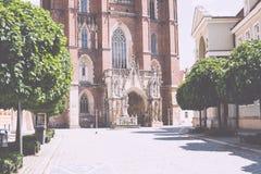 Architettura della città della Polonia Wroclaw Immagine Stock Libera da Diritti
