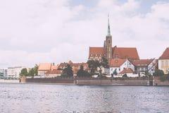Architettura della città della Polonia Wroclaw Immagini Stock Libere da Diritti