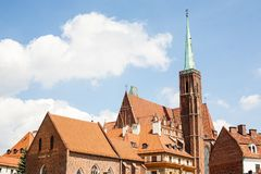 Architettura della città della Polonia Wroclaw Fotografia Stock Libera da Diritti
