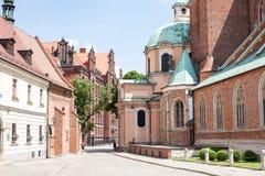 Architettura della città della Polonia Wroclaw Fotografie Stock Libere da Diritti