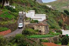 Architettura della città Tenerife di Almaciga Fotografia Stock Libera da Diritti