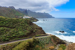 Architettura della città Tenerife di Almaciga Fotografia Stock
