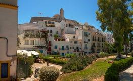 Architettura della collina di Ibiza Immagine Stock