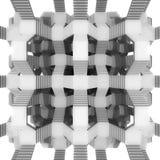 Architettura della composizione nelle scala nella vista superiore Fotografie Stock