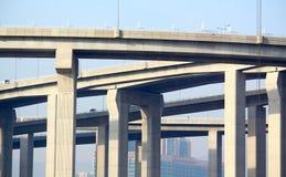 Architettura della costruzione della strada principale Fotografia Stock