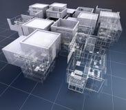 Architettura della costruzione di affari Fotografie Stock Libere da Diritti