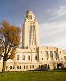Architettura della cupola di Lincoln Nebraska Capital Building Government Fotografia Stock