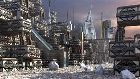 Architettura della fantascienza Fotografia Stock