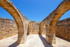 Architettura della fortezza veneziana Fortezza in Rethymno su Creta, Grecia Fotografia Stock