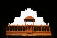 Architettura della fortificazione rossa Agra, India Immagine Stock Libera da Diritti