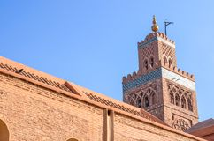 Architettura della moschea di Koutoubia Fotografie Stock