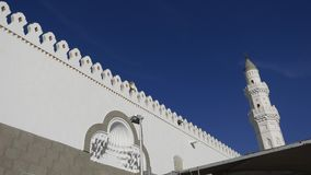 Architettura della moschea di Quba in Medina, Arabia Saudita stock footage