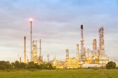 Architettura della pianta petrochimica della raffineria di petrolio Fotografie Stock