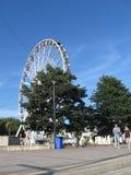 Architettura della spiaggia di Torquay, Inghilterra immagini stock