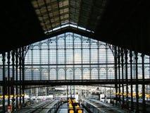 Architettura della stazione ferroviaria Fotografie Stock