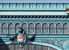 Architettura della stazione ferroviaria di Austerlitz a Parigi fotografia stock libera da diritti