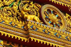 Architettura della Tailandia Pagoda buddista a Wat Phra Yai Temple L Immagine Stock