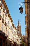 Architettura della via a Aix-en-Provence Fotografia Stock Libera da Diritti