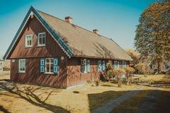 Architettura delle case nella città Nida Fotografia Stock Libera da Diritti