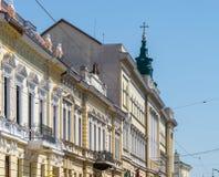 Architettura delle costruzioni in Oradea, Romania, regione di Crisana Fotografie Stock Libere da Diritti