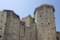 Architettura delle pareti antiche della spaccatura in Croazia Fotografia Stock