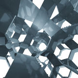 Architettura delle scala in composizione futuristica Fotografia Stock