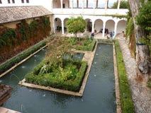 Architettura di Alhambra Fotografie Stock Libere da Diritti