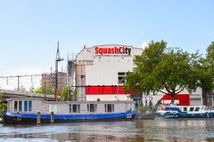 Architettura di Amsterdam, Paesi Bassi Fotografie Stock