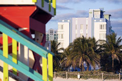 Architettura di art deco di Miami Beach Immagini Stock Libere da Diritti