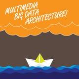 Architettura di Big Data di multimedia del testo della scrittura Nuvole pesanti online di Wave della rete di tecnologia dell'info royalty illustrazione gratis