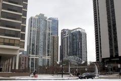 Architettura di Chicago, IL Fotografie Stock