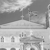 in architettura di Cicladi Grecia di paros vecchia e Th greco del villaggio Fotografia Stock Libera da Diritti