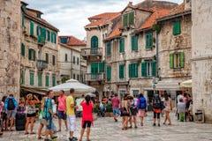 Architettura di Città Vecchia nella spaccatura, Croazia Immagine Stock