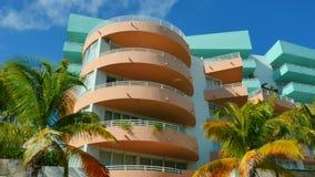 Architettura di deco di Miami Beach stock footage