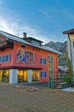Architettura di Garmisch-Partenkirchen Fotografia Stock Libera da Diritti