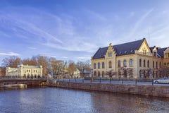 Architettura di giallo di Upsala Immagine Stock