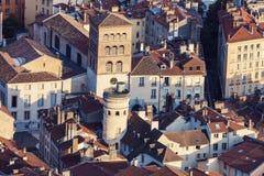 Architettura di Grenoble - vista aerea Fotografia Stock Libera da Diritti