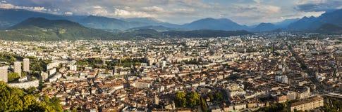 Architettura di Grenoble - vista aerea Immagini Stock Libere da Diritti