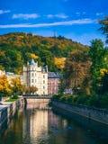 Architettura di Karlovy Vary (Karlsbad), repubblica Ceca È t Fotografia Stock